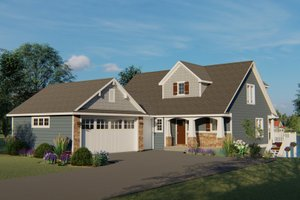 Beach Exterior - Front Elevation Plan #1064-27