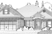Traditional Style House Plan - 3 Beds 2 Baths 1797 Sq/Ft Plan #63-281 Exterior - Front Elevation