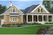 Southern Style House Plan - 3 Beds 3 Baths 1792 Sq/Ft Plan #45-572 Exterior - Front Elevation