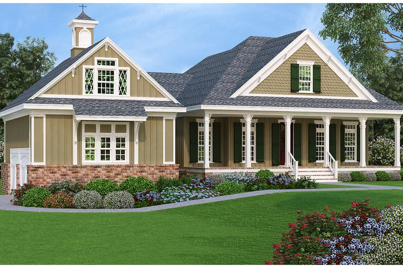 House Plan Design - Southern Exterior - Front Elevation Plan #45-572