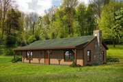 Country Style House Plan - 2 Beds 1 Baths 1000 Sq/Ft Plan #932-163