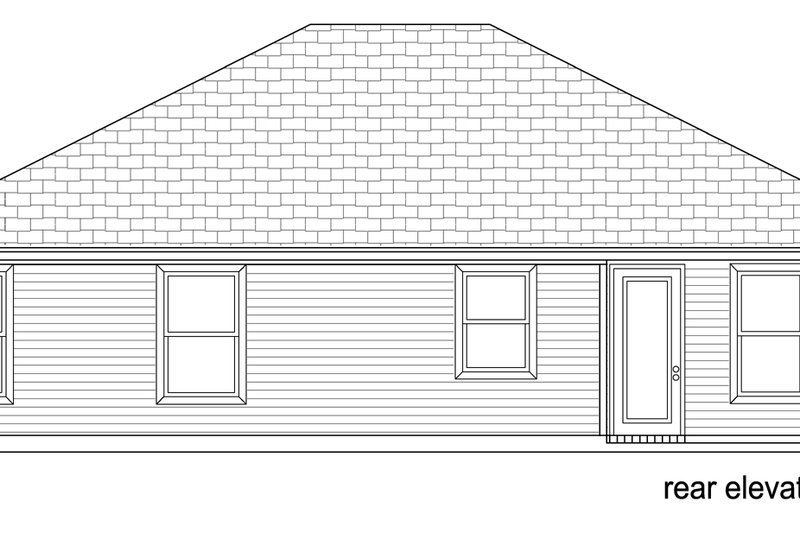Traditional Exterior - Rear Elevation Plan #84-583 - Houseplans.com
