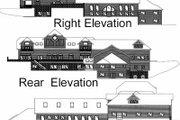 European Style House Plan - 15 Beds 13 Baths 26337 Sq/Ft Plan #117-168 Exterior - Rear Elevation