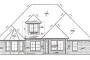 European Style House Plan - 3 Beds 2.5 Baths 2271 Sq/Ft Plan #310-984 Exterior - Rear Elevation