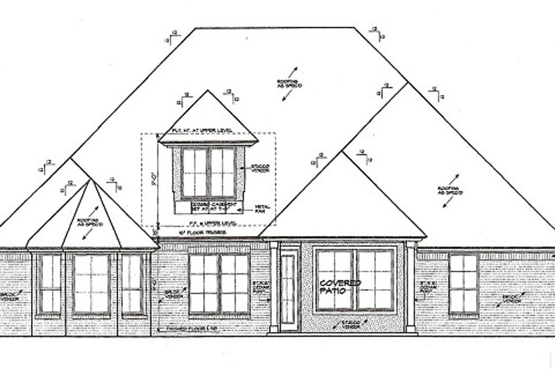 European Exterior - Rear Elevation Plan #310-984 - Houseplans.com