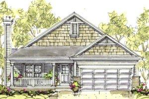 Craftsman Exterior - Front Elevation Plan #20-1204