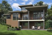 Contemporary Style House Plan - 5 Beds 3.5 Baths 3261 Sq/Ft Plan #48-1013 Exterior - Rear Elevation