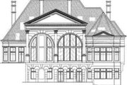 European Style House Plan - 5 Beds 6.5 Baths 7830 Sq/Ft Plan #119-163 Exterior - Rear Elevation