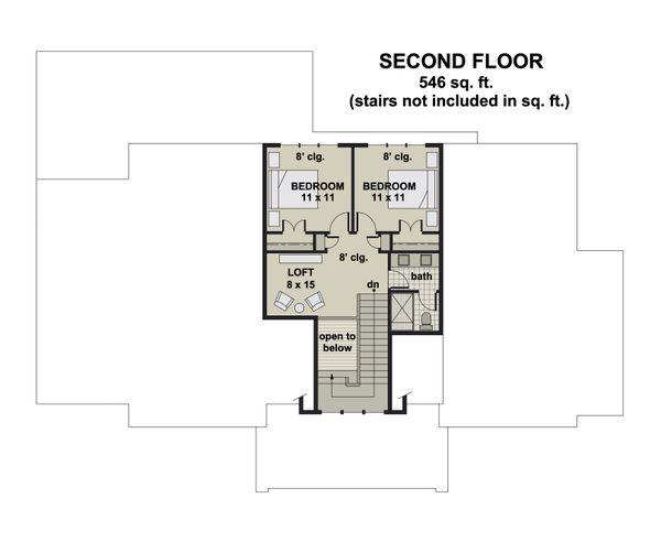 Dream House Plan - Farmhouse Floor Plan - Upper Floor Plan #51-1163