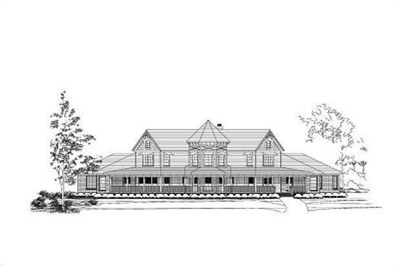 Traditional Style House Plan - 5 Beds 4.5 Baths 5856 Sq/Ft Plan #411-398 Exterior - Front Elevation