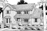 Traditional Style House Plan - 3 Beds 2.5 Baths 1920 Sq/Ft Plan #20-330