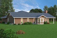 Ranch Exterior - Rear Elevation Plan #45-375