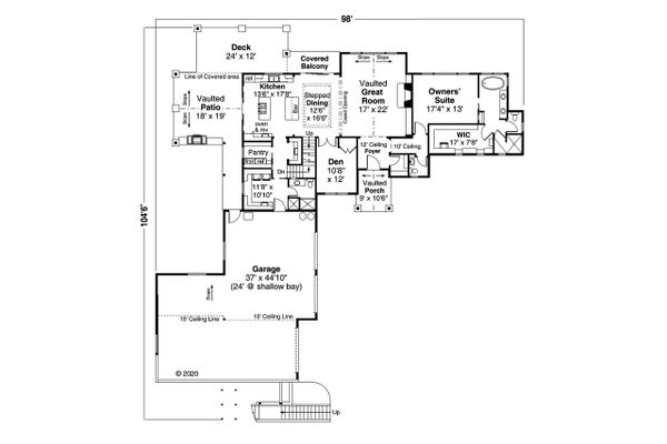 Dream House Plan - European Floor Plan - Main Floor Plan #124-1200