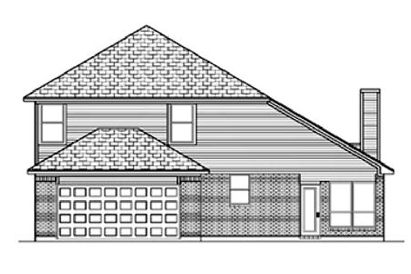 Traditional Exterior - Rear Elevation Plan #84-364 - Houseplans.com