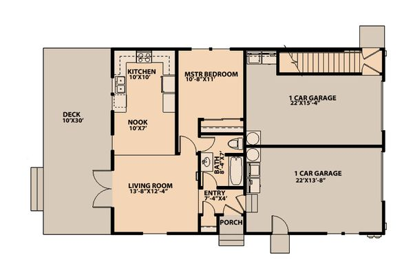 Traditional Floor Plan - Main Floor Plan Plan #515-7