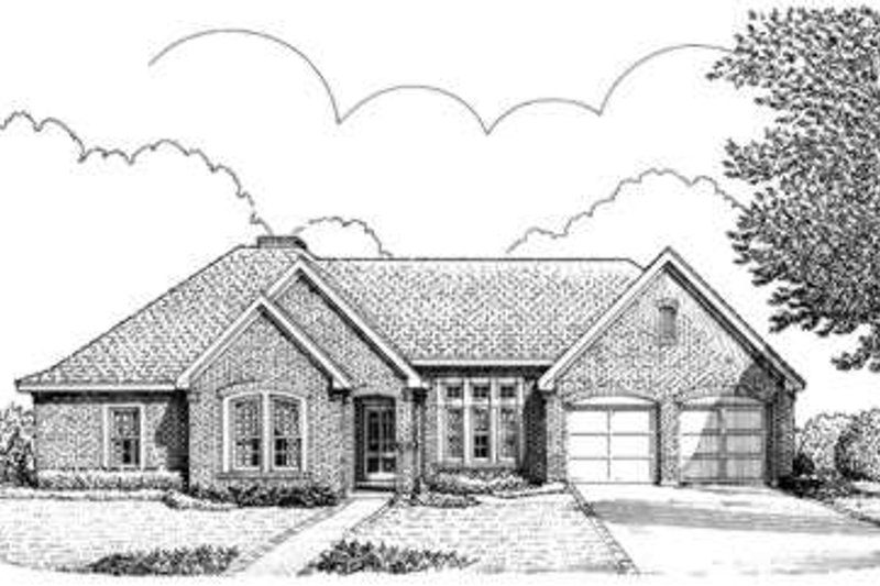 European Exterior - Front Elevation Plan #410-276 - Houseplans.com