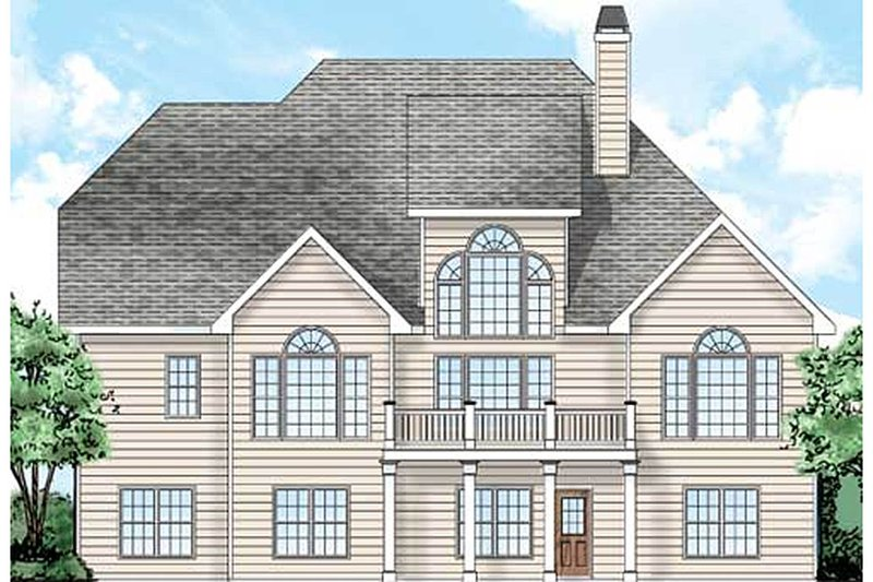 Traditional Exterior - Rear Elevation Plan #927-33 - Houseplans.com