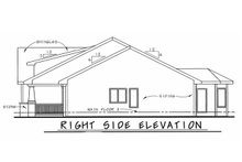 Architectural House Design - Bungalow Exterior - Other Elevation Plan #20-1606