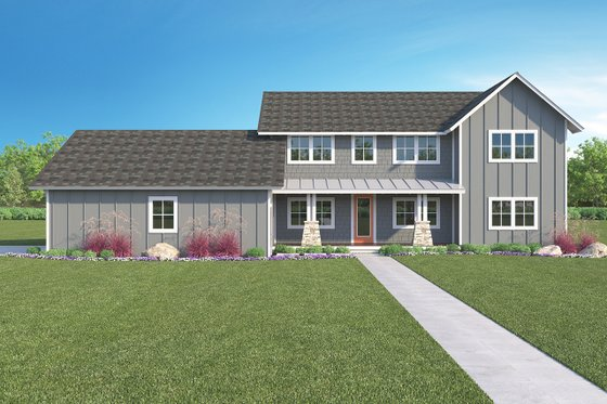 Farmhouse Exterior - Front Elevation Plan #1068-4