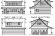 Bungalow Style House Plan - 1 Beds 1 Baths 905 Sq/Ft Plan #47-638 Exterior - Rear Elevation