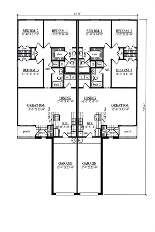 Country Floor Plan - Main Floor Plan Plan #42-377
