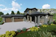 Modern Style House Plan - 4 Beds 3.5 Baths 2779 Sq/Ft Plan #1069-9 Exterior - Front Elevation
