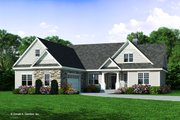 Craftsman Style House Plan - 4 Beds 3 Baths 2863 Sq/Ft Plan #929-446 Exterior - Front Elevation