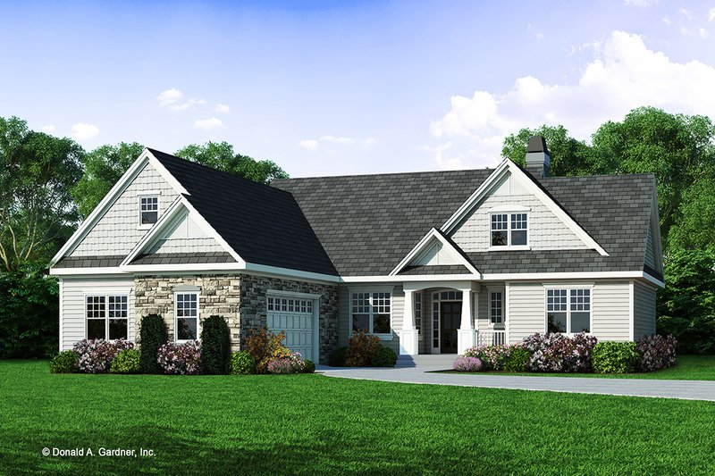 Architectural House Design - Craftsman Exterior - Front Elevation Plan #929-446