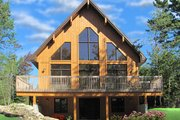 Contemporary Style House Plan - 3 Beds 2 Baths 1301 Sq/Ft Plan #23-2629 Exterior - Rear Elevation