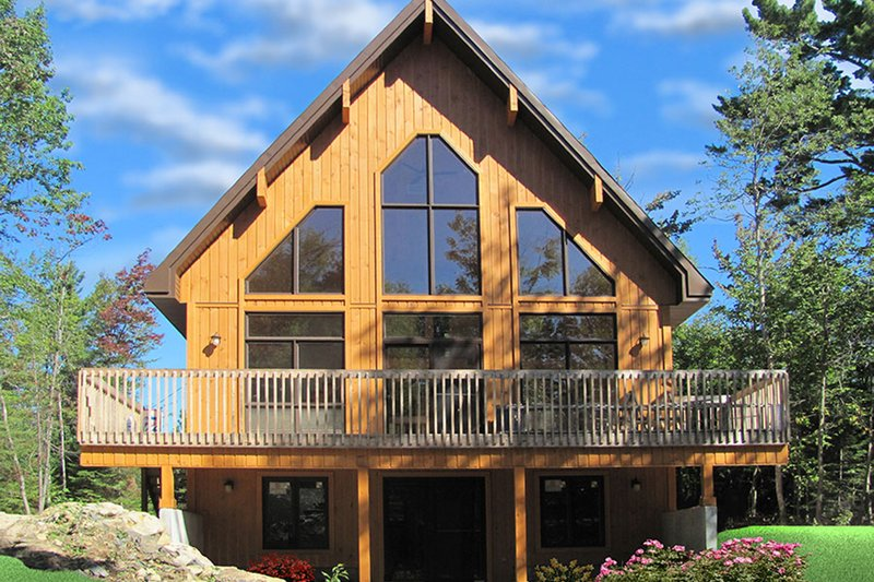 House Plan Design - Contemporary Exterior - Rear Elevation Plan #23-2629