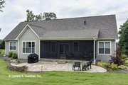 Craftsman Style House Plan - 4 Beds 3 Baths 2331 Sq/Ft Plan #929-978 Exterior - Rear Elevation