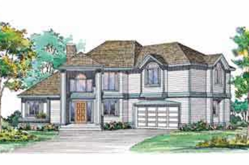 House Blueprint - Traditional Exterior - Front Elevation Plan #72-375