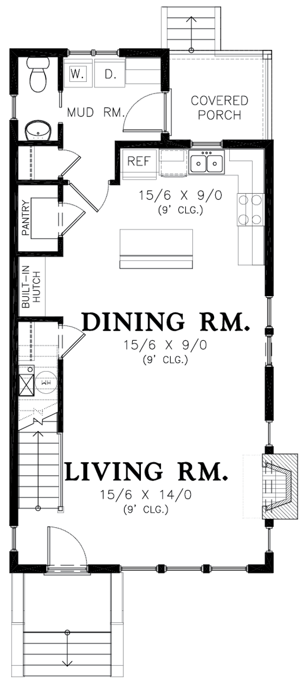 Colonial Floor Plan - Main Floor Plan Plan #48-1011