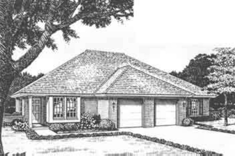 Traditional Exterior - Front Elevation Plan #310-434 - Houseplans.com