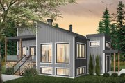 Modern Style House Plan - 1 Beds 1 Baths 1141 Sq/Ft Plan #23-2672 Exterior - Front Elevation