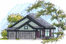 Craftsman Exterior - Front Elevation Plan #70-998