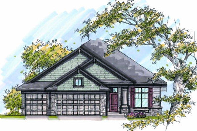Craftsman Exterior - Front Elevation Plan #70-998