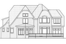 Tudor Exterior - Rear Elevation Plan #413-816