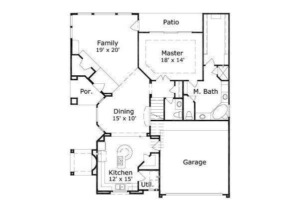 Floor Plan - Main Floor Plan Plan #411-247