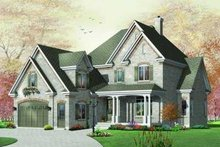 European Exterior - Front Elevation Plan #23-379