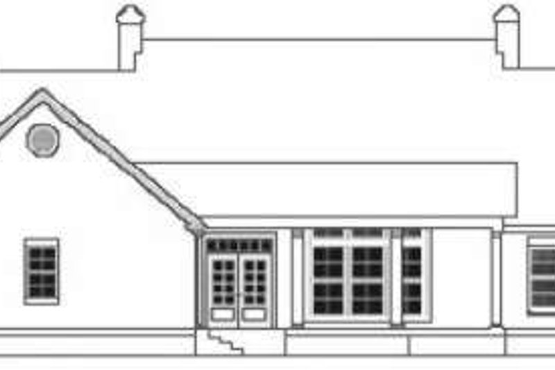 Southern Exterior - Rear Elevation Plan #406-103 - Houseplans.com