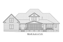 Architectural House Design - Country Exterior - Rear Elevation Plan #1054-75