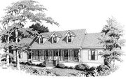 Traditional Style House Plan - 3 Beds 2 Baths 2218 Sq/Ft Plan #10-116 Exterior - Front Elevation