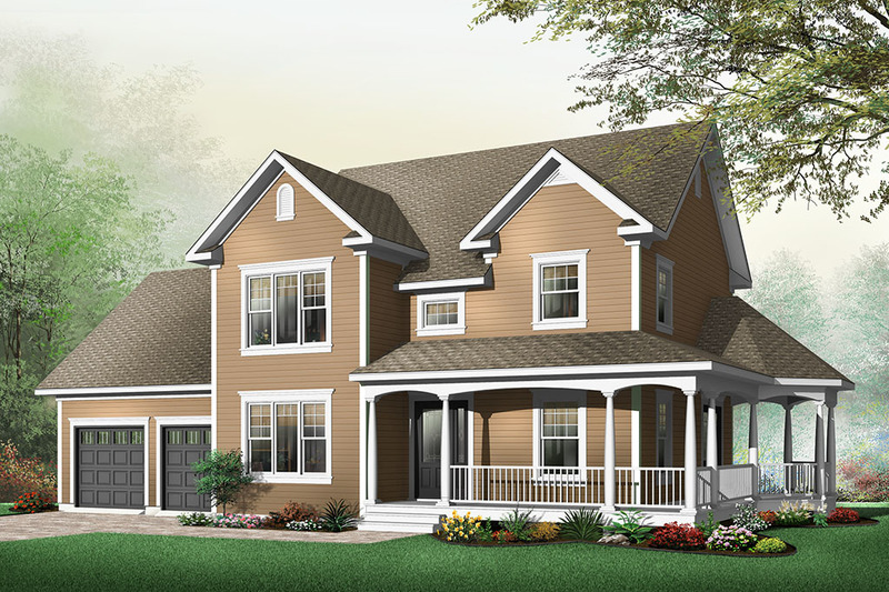 Country Exterior - Front Elevation Plan #23-622 - Houseplans.com