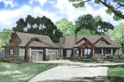 Craftsman Style House Plan - 4 Beds 4.5 Baths 3574 Sq/Ft Plan #17-2504 Exterior - Front Elevation