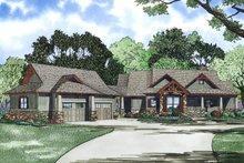 Craftsman Exterior - Front Elevation Plan #17-2504