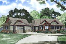 House Plan Design - Craftsman Exterior - Front Elevation Plan #17-2504