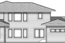 Craftsman Exterior - Rear Elevation Plan #70-633