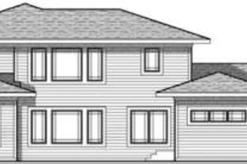 Craftsman Exterior - Rear Elevation Plan #70-633 - Houseplans.com