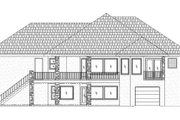 Traditional Style House Plan - 5 Beds 3.5 Baths 3614 Sq/Ft Plan #24-103 Exterior - Rear Elevation